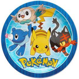 8 Piatti Pokémon di carta 23 cm