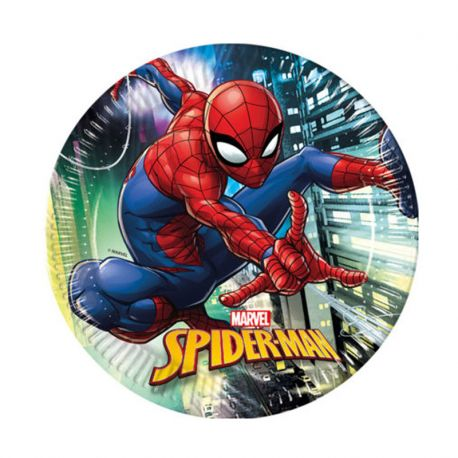 8 Platos SpiderMan 23 cm