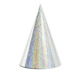 6 Cappelli di Carta Metallizzata con Brillantini