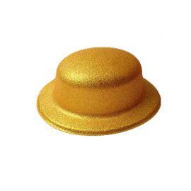 Cappello Metallizzato con Brillantini Rotondo