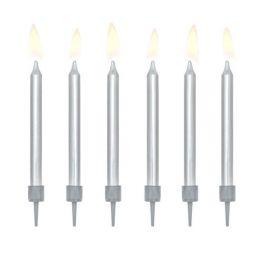 6 Candele per Compleanni Metallizzate