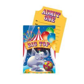 8 Inviti Elefante del Circo