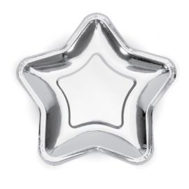 6 Piatti di Carta a Stella 18 cm