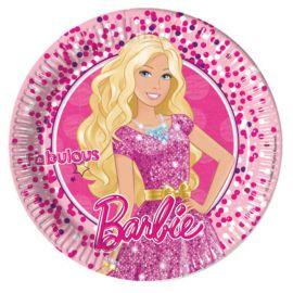 8 Piatti Barbie di Cartone 23 cm