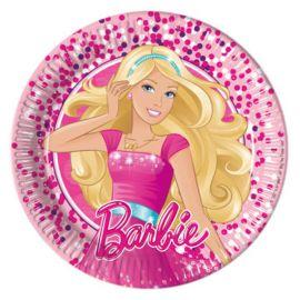 8 Piatti Barbie di Cartone 20 cm