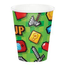 8 Bicchieri Videogiochi 266 ml