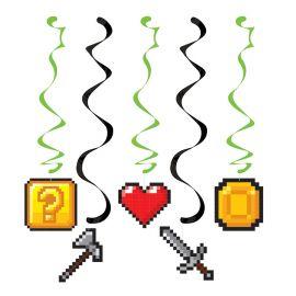 5 Decorazioni Pendenti Videogiochi