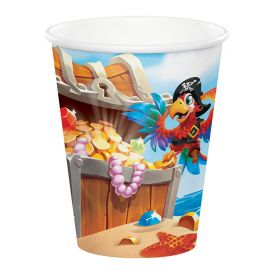 8 Bicchieri Tesoro dei Pirati 266 ml