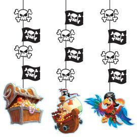 3 Decorazioni Appese Tesoro dei Pirati