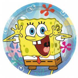 8 Piatti Spongebob 23 cm