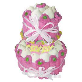 Torta di Caramelle Battesimo Bambina