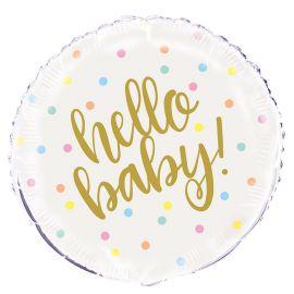 Palloncino Hello Baby Foil 46 cm