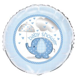 Palloncino Baby Shower Elefante Bambino Foil 46 cm
