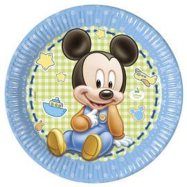 8 Piatti Baby Mickey 23 cm