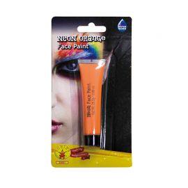 Maquillaje de Cara Neón Naranja