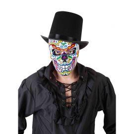 Máscara Catrín Blanca Día de los Muertos