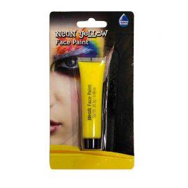 Maquillaje de Cara Neón de Color Amarillo