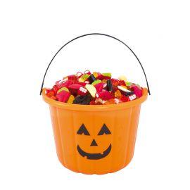 Cubo Portacaramelos de Calabaza Halloween 23 cm