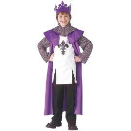 Disfraz de Rey Medieval Color Lila Infantil