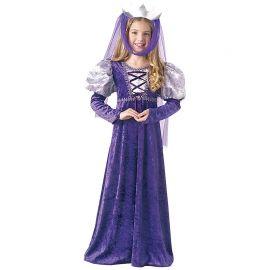 Disfraz de Reina Medieval Color Lila Infantil