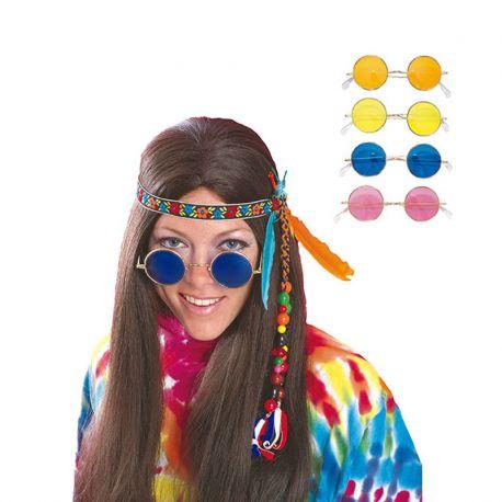 Gafas Hippie con Cristales de Colores