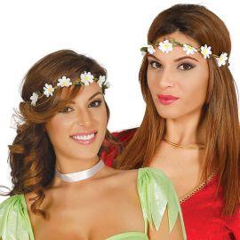 Corona di Fiori Bianchi con Foglie