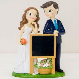 Statuine Sposi con Lavagna