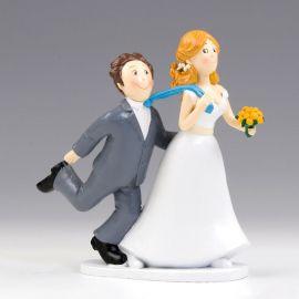 Statuine Sposi Tirando la Cravatta