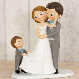 Statuine Sposi con Bambino