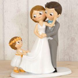 Statuine Sposi con Bambina