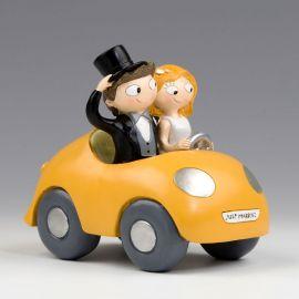 Statuine Sposi in Auto
