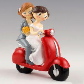 Statuine Spose su Moto