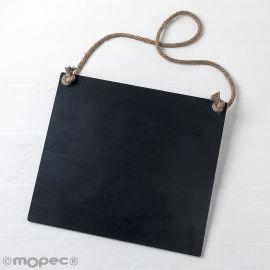 Lavagna Nera con Corda 30 x 27 x 0,5 cm
