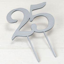 Topper per Torta 25 Anniversario