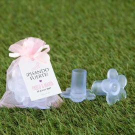 4 Paia di Protezioni per Tacchi Fiori 10-13 mm con Borsa Rosa Chiaro