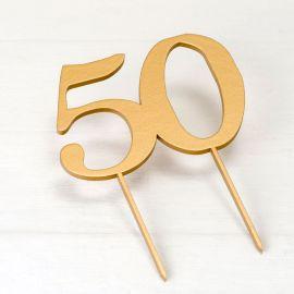 Topper per Torta 50 Anniversario
