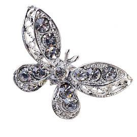 12 Fermagli con Forma di Farfalla Strass