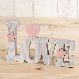 Decorazioni in Legno Love 20 cm