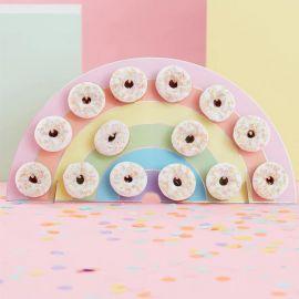 Parete di Donuts Arcobaleno