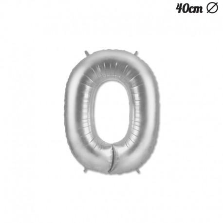 Palloncino Numero 0 Foil 40 cm