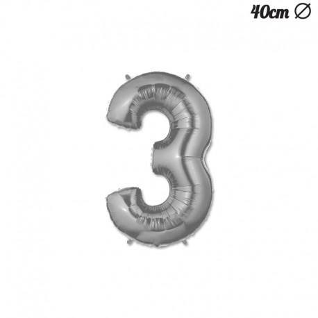 Palloncino Numero 3 Foil 40 cm