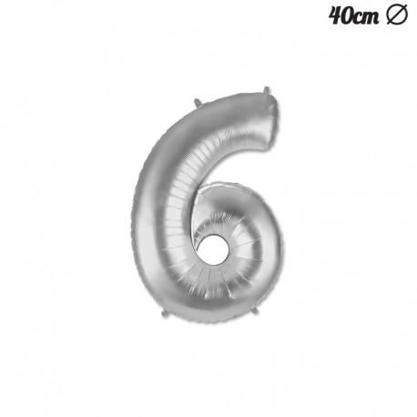 Palloncino Numero 6 Foil 35 cm