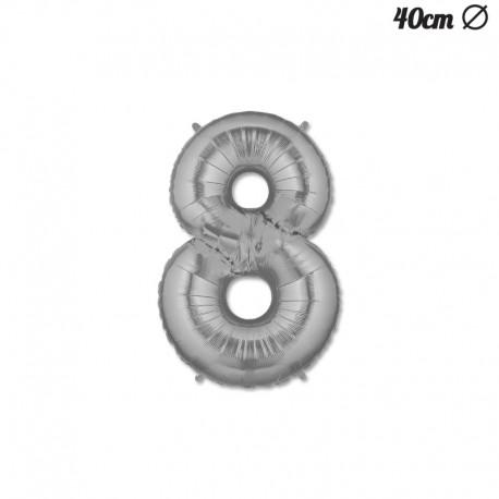 Palloncino Numero 8 Foil 40 cm