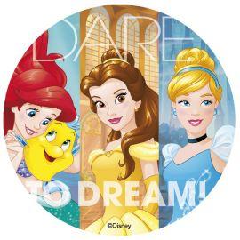 Cialda Commestibile delle Principesse Disney 20 cm