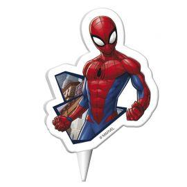 Candele di Compleanno Spiderman 7,5 cm 2D