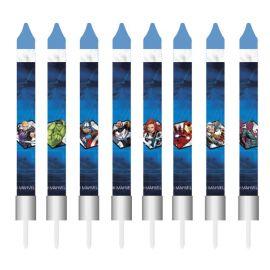 8 Candele forma Stuzzicadenti Avengers 9 cm