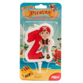 Candela dei Pirati Nº2 de 7 cm 2D