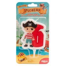 Candela dei Pirati Nº6 de 7 cm 2D