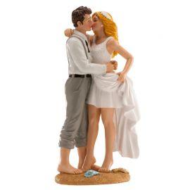Statuetta Sposi in Spiaggia 16 cm