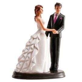 Statuetta Sposi Per Mano 20 cm